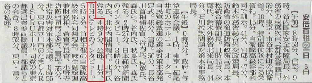 9月3日 の首相動静